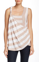 L.A.M.B. Yarn Dyed Linen Blend Stripe Tank
