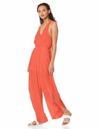 Cupcakes And Cashmere Women's Camaro Crepe Split Leg Jumpsuit with tie Neck