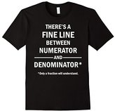 Funny Math T-shirt Fine Line - Only Fraction Understand