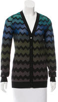 M Missoni Patterned Button-Up Cardigan