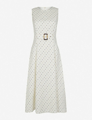 Ted Baker Belted linen-blend midi dress