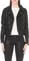 Free People Soho vegan-leather biker jacket