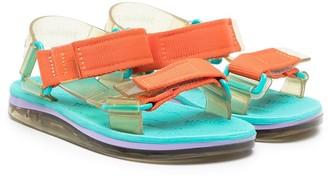 Mini Melissa Papete + Rider flat sandals