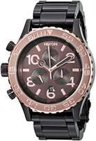 Nixon Men's A037-1193 42-20 Chrono Chocolate Stainless Steel Watch