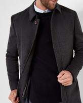 Overcoat and quilted gillet