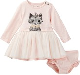Jessica Simpson Printed Knit Dress & Bloomers Set (Baby Girls)