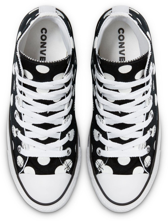 Thumbnail for your product : Converse Chuck Taylor All Star Polka Hi-Tops - Black/White