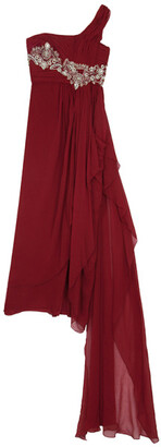 Marchesa One Shoulder Embellished Gown L