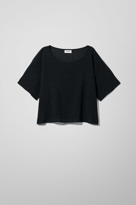 Weekday Tyla Jersey Top - Black