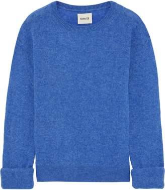 KHAITE Jemima Melange Stretch-cashmere Sweater