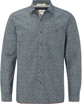 White Stuff Yasur Chambray Print Long Sleeve Shirt