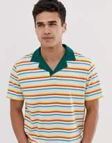 Asos Design ASOS DESIGN organic cotton relaxed striped revere polo