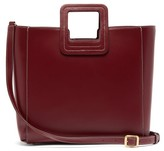 STAUD Shirley Small Leather Bag - Womens - Dark Red