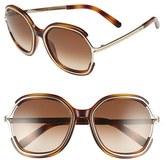 Chloé Women's 'Jayme' 54Mm Square Sunglasses - Dark Grey