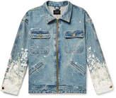 Fear Of God Oversized Painted Selvedge Denim Jacket