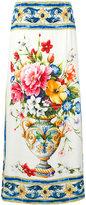 Dolce & Gabbana flower print long skirt - women - Silk/Spandex/Elastane - 44