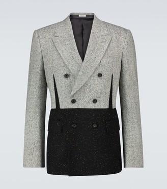 Alexander McQueen Donegal tweed double-breasted blazer