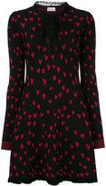 RED Valentino heart print knitted dress - women - Cotton/Polyamide/Viscose/Wool - XS