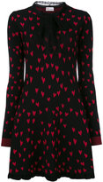 RED Valentino heart print knitted dress - women - Cotton/Polyamide/Viscose - XS