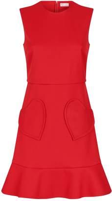 RED Valentino Heart Pockets Mini Dress