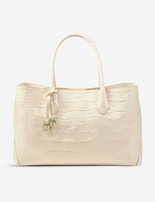 Aspinal of London London croc-embossed leather tote bag