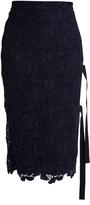No.21 NO. 21 Macramé-lace side-slit skirt