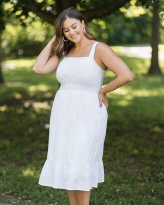The Drop Women's Bright White Strappy Midi Dress by @caralynmirand XXS