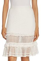 Jonathan Simkhai Ruffled Cotton Crochet Skirt