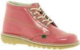Kickers Kick Hi Patent Dark Pink Boot