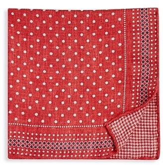 Brunello Cucinelli Reversible Dot & Houndstooth-Print Pocket Square