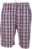 Godsenen's Woven Plaid Sleep Pajaa Shorts with Pockets
