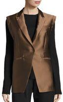 Brunello Cucinelli Silk-Blend Sleeveless Jacket