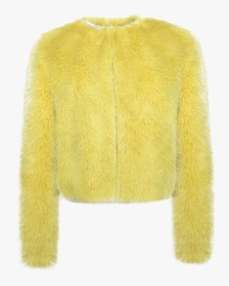 House Of Fluff Cropped Fox Jacket