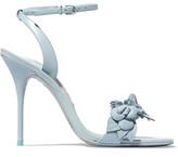 Sophia Webster Lilico Appliquéd Leather Sandals - Blue