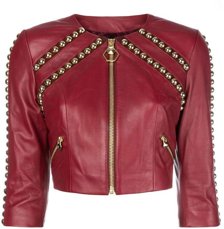 Philipp Plein studded cropped jacket