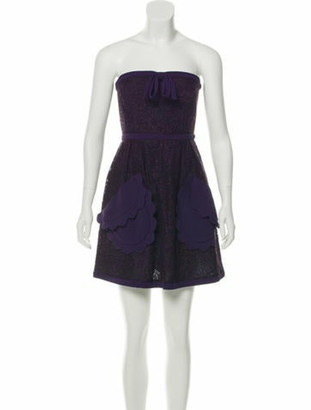 Miu Miu Lace Mini Dress Purple
