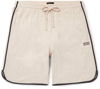 HUGO BOSS Piped Melange Stretch-Cotton Jersey Drawstring Shorts