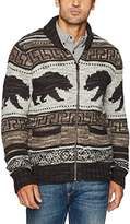 Lucky Brand Men's Bear Cardigan Sweater
