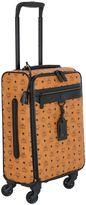 MCM Nomad Logo Faux Leather Wheeled Suitcase
