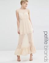 Vero Moda Petite Sheer Insert Maxi Dress