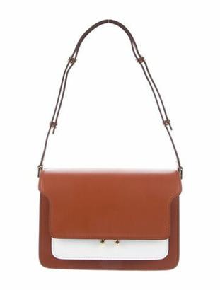 Marni Smooth Leather Shoulder Bag w/ Tags Brown