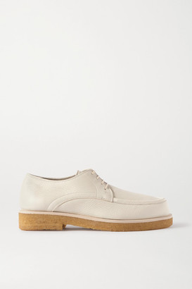 The Row Honore Textured-leather Brogues - Cream