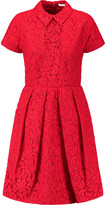 Carven Pleated corded lace dress
