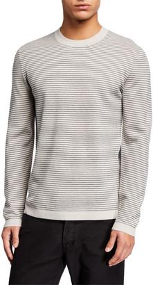 Theory Men's Ollis Milos Striped Crewneck Sweater