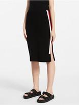 Calvin Klein Platinum Side Stripe Pencil Skirt