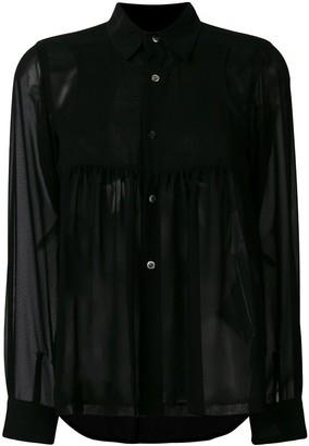 Comme des Garcons sheer long sleeve blouse