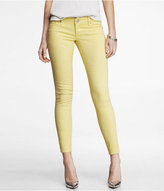 Express Stella Printed Ankle Jean Legging - Yellow Zebra