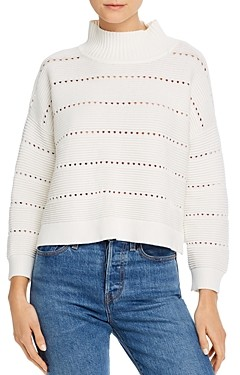 French Connection Liliya Knit Perforated Cotton Sweater