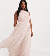 Asos DESIGN Curve Bridesmaid maxi dress with soft pleated bodice