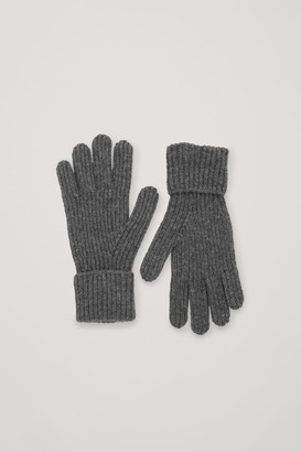 Cos Ribbed Cashmere Gloves